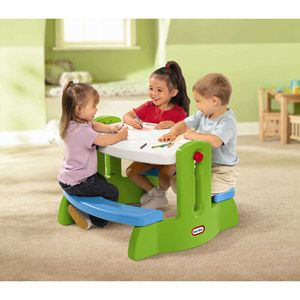 Little Tikes Adjust 'N Draw Table, Green and Blue