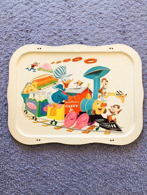 Vintage Midcentury 1961 Walt Disney Donald Duck Train