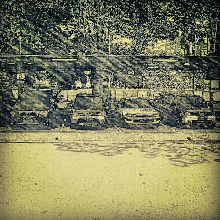 Sketched Parking Lot, Surabaya, East Java