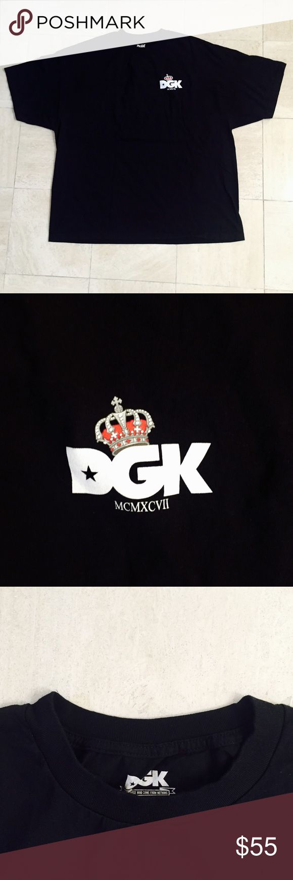 DGK Royalty T-Shirt DGK Royalty T-Shirt: Made from 100% Cotton, tagless collar for comfort, crew neck, screen print chest and back graphic (as pictured), imported, original product, exactly as pictured, fits true to size, and never worn. DGK Shirts Tees - Short Sleeve