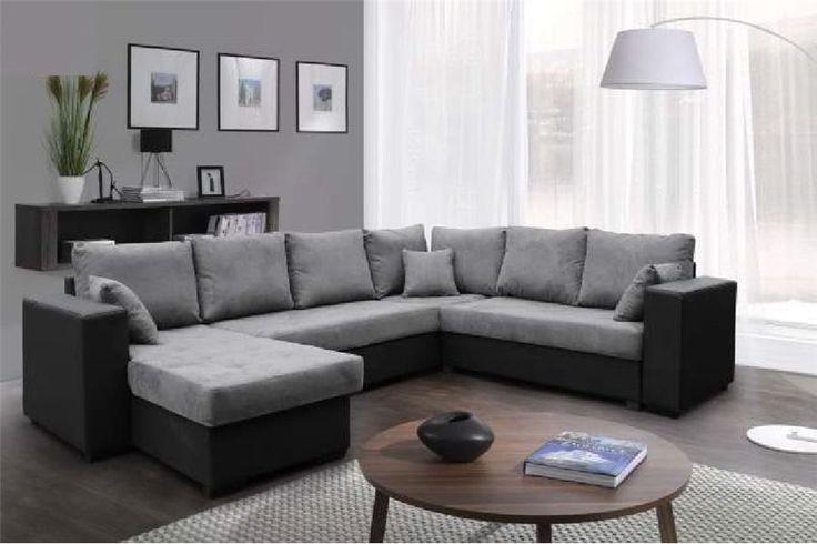 Canapé d'angle panoramique Nelle - microfibre - chloe design