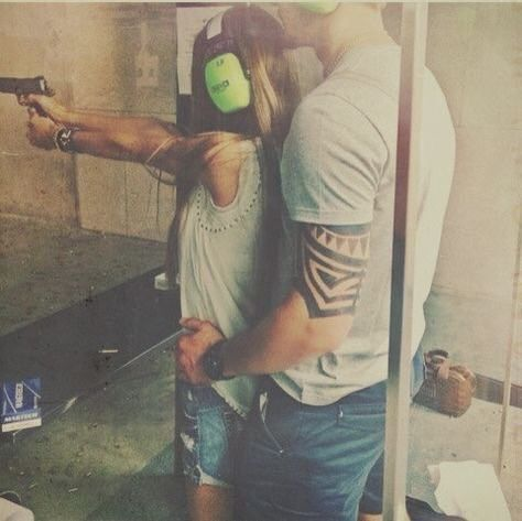 A perfect date!! Target shootin'  #countrydates