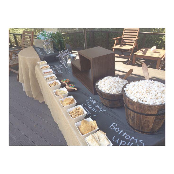 ポップコーンバーを作りました☺︎♥︎  ウェディング wedding popcornbar