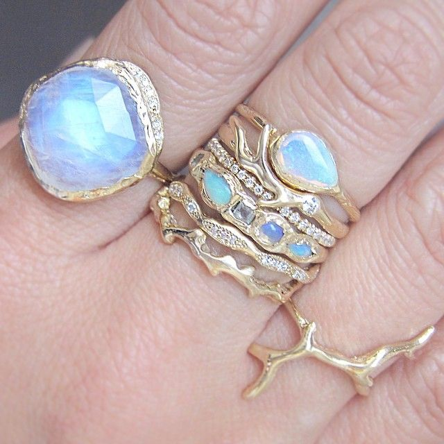 Moonlight ... Gold Branch Ring, Compass Opal Ring, Timber Guard Ring, Horizon Diamond Ring, Journey Treasure Mermaid Ring, Wave Eternity Ring, Fire Coral Ring and of course the stunning Moonstone Cove Ring