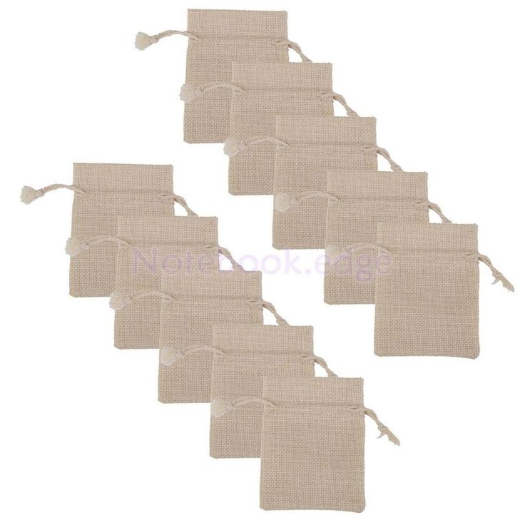 10 x Burlap Jute Drawstring Gift Bags Favor Rustic Wedding Jewelry Pouch #unbranded