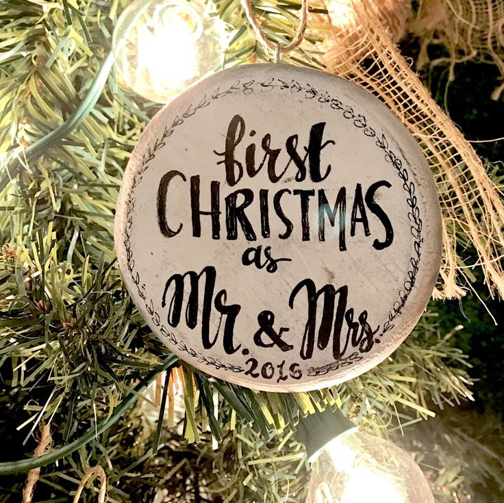 A personal favorite from my Etsy shop https://www.etsy.com/listing/491095669/our-first-christmas-wedding-christmas