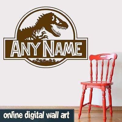 Jurassic #world logo wall #sticker quote decal / #jurassic park / dinosaur / kids, View more on the LINK: http://www.zeppy.io/product/gb/2/161763880384/
