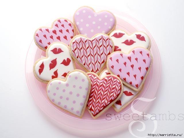 Las galletas de San Valentín con formación de hielo real (640x480, 118Kb)