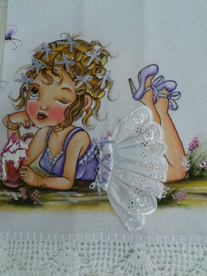 Pintura em tecido | bonecas