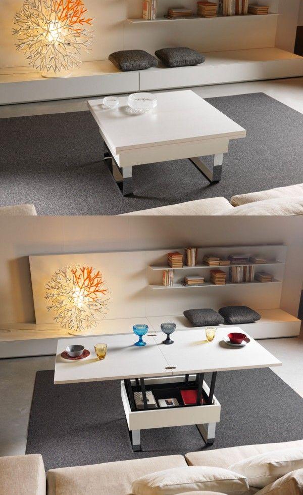 El más astuto de ahorro de espacio mesas de comedor tienen que ser los que aparecen como de la nada, con mecanismos desplegables que se ajustan directamente en las paredes, lo que permite un acabado de color, o de los que desfilan como una pieza completamente diferente de los muebles, tales como una consola de mesa o mesa de café.