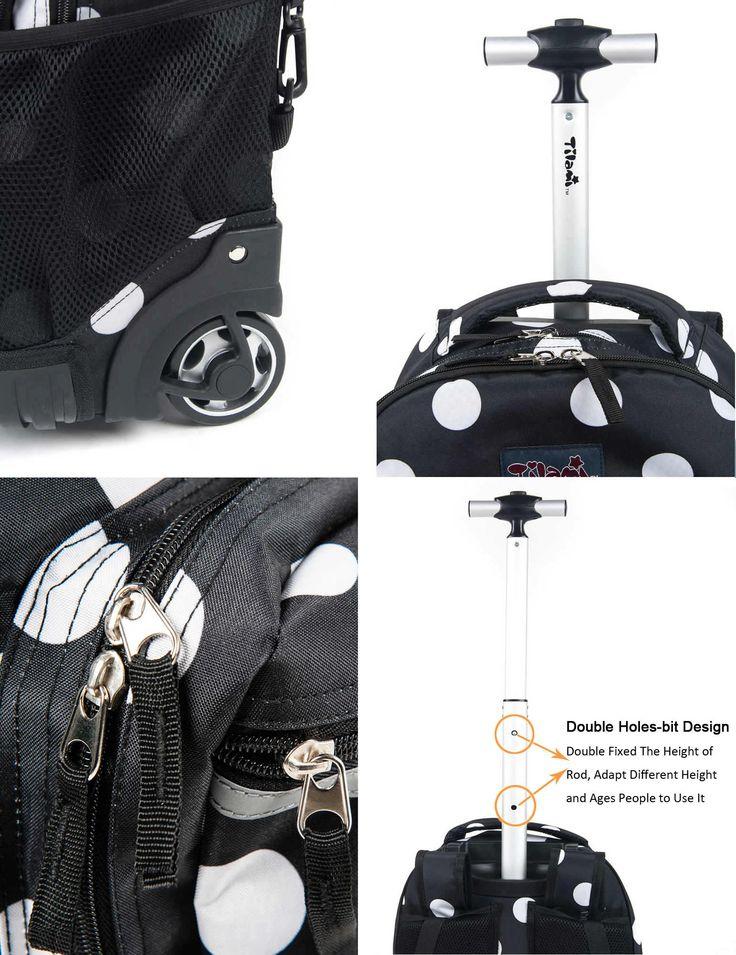 Tilami® Anti-wear Compressive Rolling Backpack -Black Dot