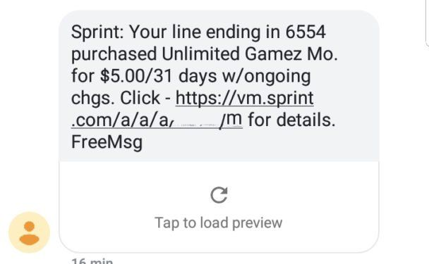 Unauthorized Charge From Unlimited Gamez Mo Last Night About 7