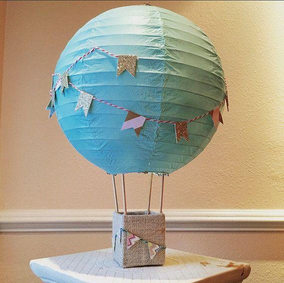 Hot Air Ballon Dekorationen Herzstück Minze von AmorasPartyDecor