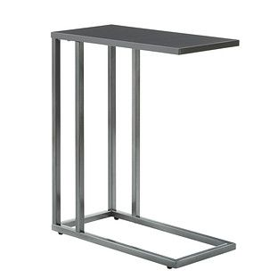 """Get ready to fall in love with our stylish and affordable C-Table! Use it as a side table next to a sofa, as a modern """"TV tray"""" or as a laptop stand - it's so versatile!"""