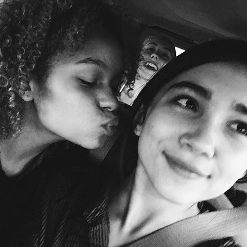 Nice Picture Of Rachel Crow With Rowan Blanchard