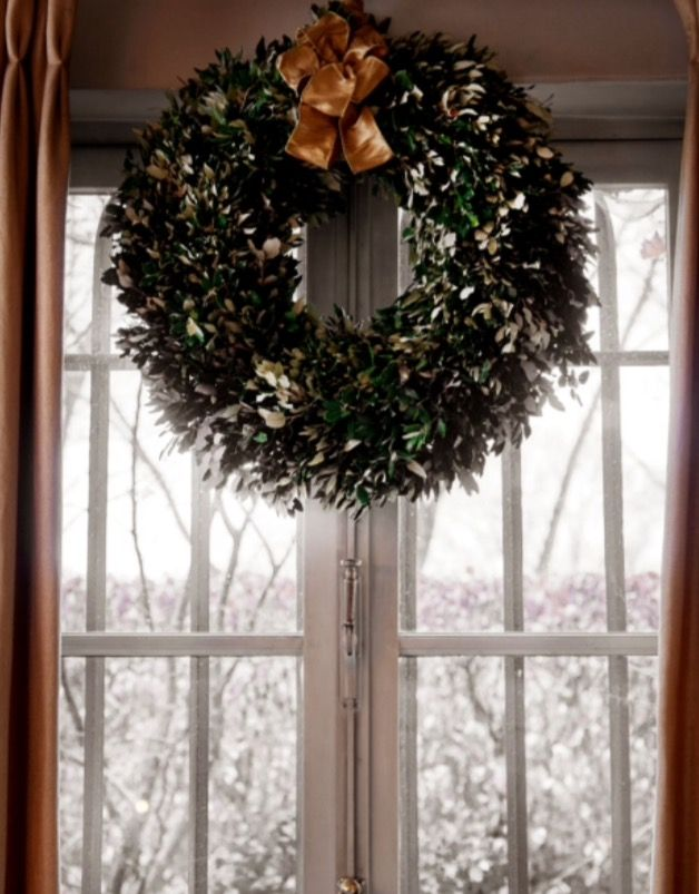 "This classic Christmas wreath is from our feature ""Spirits of Grace"""