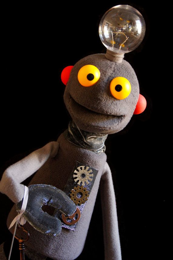 Robot Puppet Large Professional Hand Puppet by staceyrebecca, $400.00