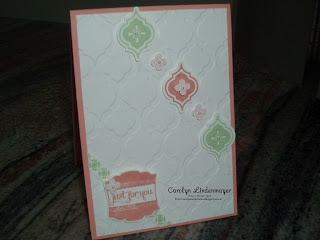 Carolyn's Card CreationsMosaics Madness Stampin, Mosaics Folder Punch, Modern Mosaics