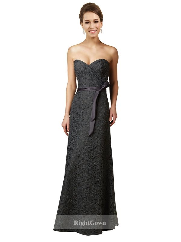 Cheap Right Gowns 2018 Hot Style Long Sweetheart Lace Slate Gray Strapless Bridesmaid Dresses 172011, Right Bridesmaid Dresses, Cheap Bridesmaid Dresses and Buy Discount Bridesmaid Dresses2018