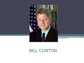 This PowerPoint is a brief biography on Bill Clinton. It mentions his early years, accomplishments during is presidency, the impeachment, and what he has done since leaving office.