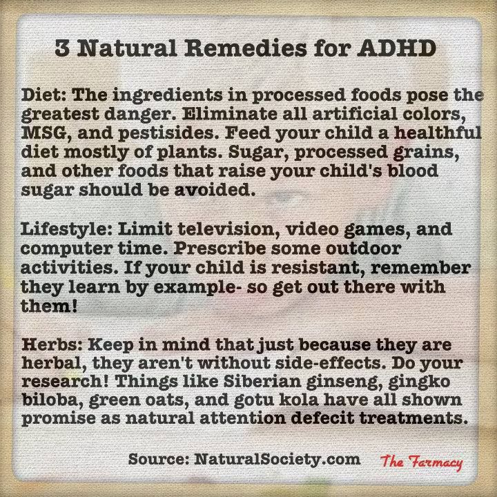 Herbal supplements for adhd