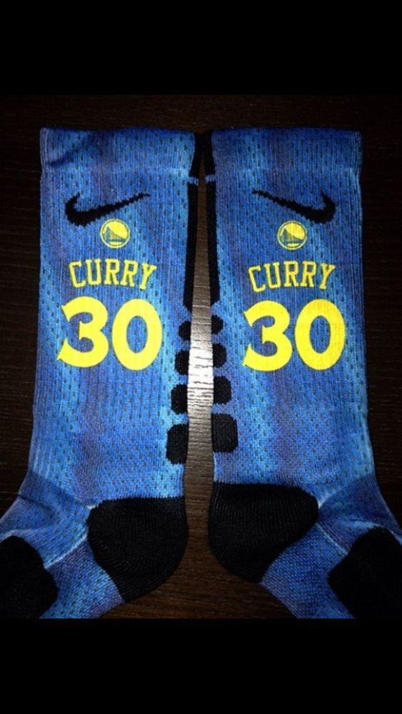 Custom Nike Elite Socks Stephen Curry Golden State Warriors All Sizes Available #Nike #Athletic