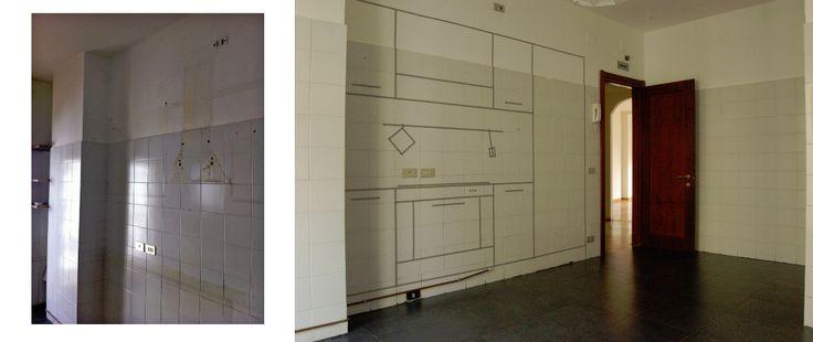 una cucina senza mobili _ prima e dopo :: casecoifiocchi