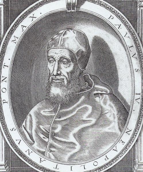 Pope Paul IV.17th cent.В 1524 он отказ.от епископства и вместе с Каэтаном Тиенским основ. орден театинцев,целью к- рого было обновл.религиоз. духа ср.духовен-ва.В 1536, в один день с буд.папой Юлием III,был назн. председат.Свящ.канцелярии.
