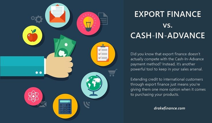 Did you know that export finance doesn't actually compete with the Cash-In-Advance payment method? Instead, it's another powerful tool to keep in your sales arsenal. Extending credit to international customers through export finance just means you're giving them one more option when it comes to purchasing your products.  Read more: http://www.drakefinance.com/export-finance-vs-cash-in-advance/  #exportfinance #cashflow #internationalsales #madeinUSA