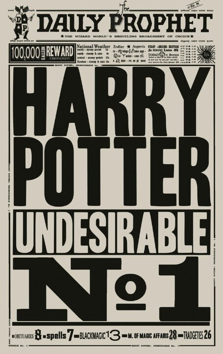Harry Potter Undesirable No. 1