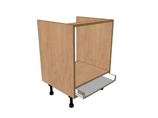 800mm built under oven housing base unit 1 shallow drw built under appliance base unit