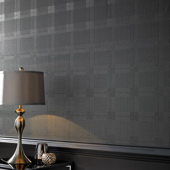 Dark Gray Tweed Wallpaper   Plain Wall Coverings By Graham Brown $30