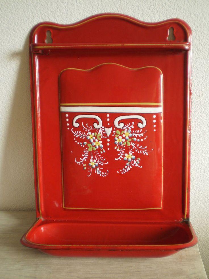 Porte louche ancien emaillee egouttoir deco cuisine maison for Deco cuisine 1900