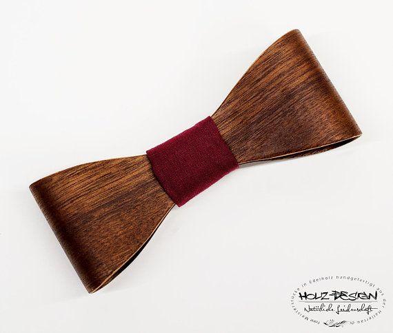Holzfliege Männer handgefertigt Schwarz Hochzeit Fliege aus Holz Bow Tie