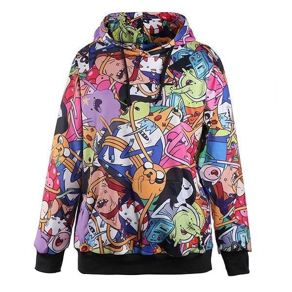 4cd6b277787 Cartoon Characters Hoodie - Merryware