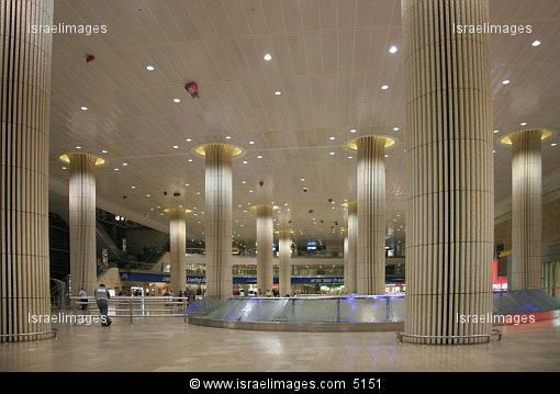 arrival hall of terminal 3 at ben gurion airport