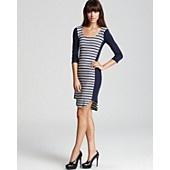 Ella Moss Dress - Ginger Stripe