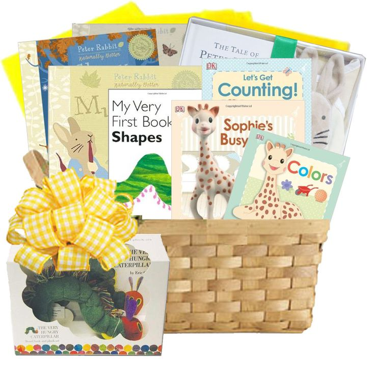 Baby Gift Baskets Rockhampton : First library baby books gift basket themed