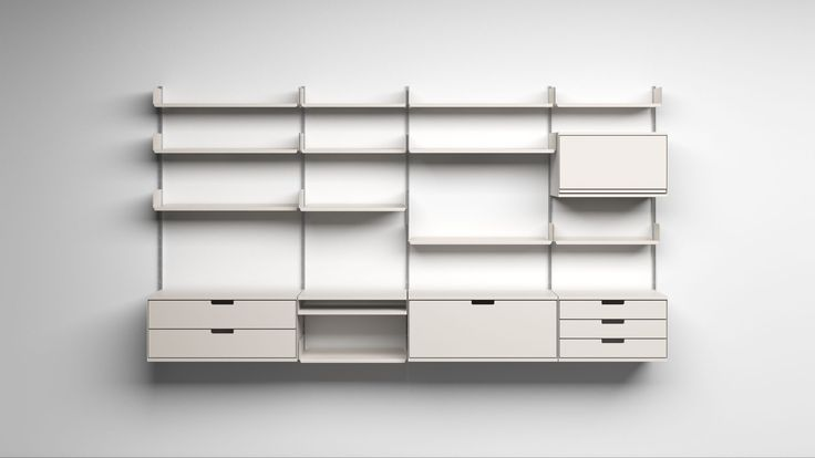 Vitsoe shelf system by Dieter Rams (1960)