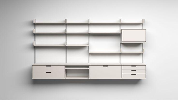 Vitsoe shelf system by Dieter Rams (1960)