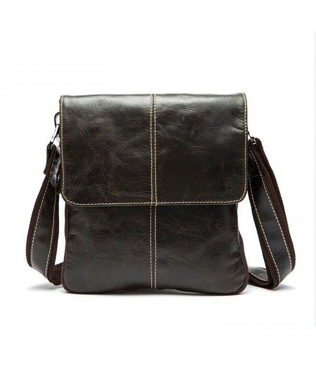 8f46527ac4c Genuine Leather Handbag Fashion Messenger Bag Shoulder Bag for Men - Coffee  - C112HSF5UL5 #Bags #handbags #gifts #Style #Shoulder Bags