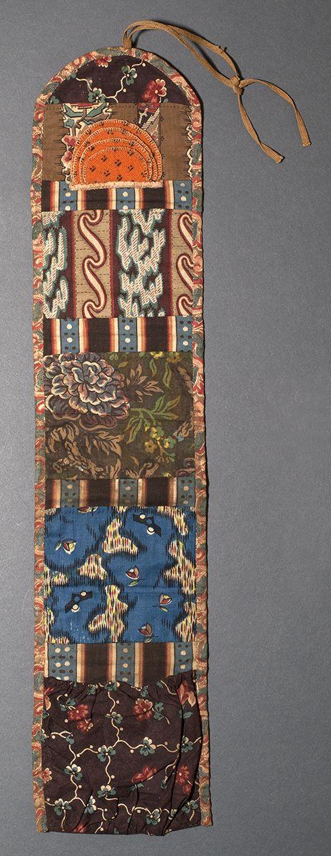 1969.3107 Needlework Case Place of Origin: United States, North America Date: 1795-1820 Materials: Cotton; Wool; Silk