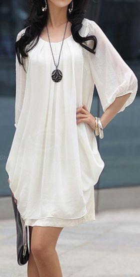 White, Retro Style.  dresslily.com