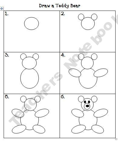 how to draw a bear for kindergarten