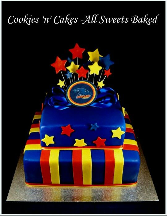 Adelaide crows, Afl, Football cake. www.facebook.com/CookiesnCakes.AllSweetsBaked ♡