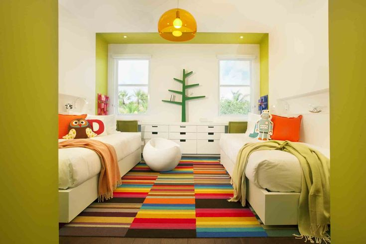 Awesome Green and orange Bedroom