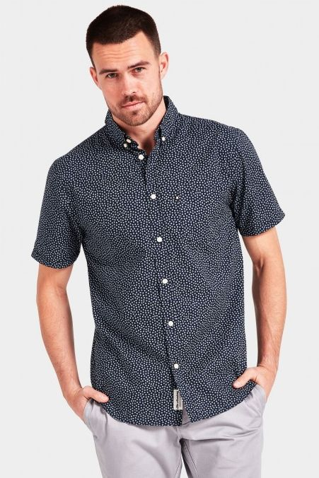 The Academy Brand - Casper Ss Shirt - Navy/Blue