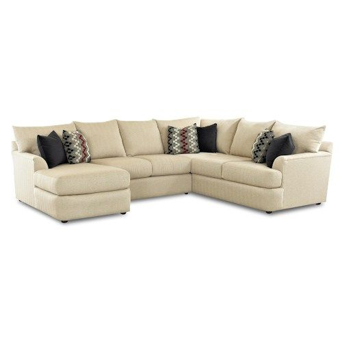 Belfort Basics Madison Sectional Sofa With Left Side Chaise Lounger