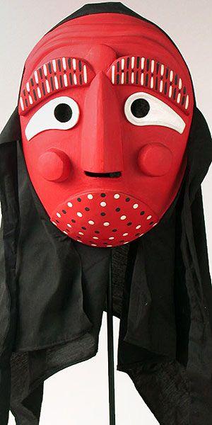 #Korean mask -- In my #fantasy setting the dokkaebi (goblins) always wear these kinds of masks.