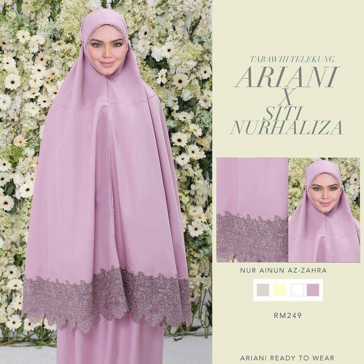 Elegant beautiful hijabista muslimah. Modest attire. For solah or any prayer. Telekung ariani rtw. +6017 630 1042 trusted personal shopper Malaysia based